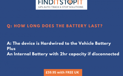 Battery Life on a Find It Stop It Vehicle Tracker