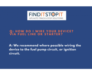FAQ – How Do I Wire Your GPS Tracker Into My Vehicle?