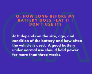 FAQ: How Long Before My Battery Goes Flat if I Don't Use It?