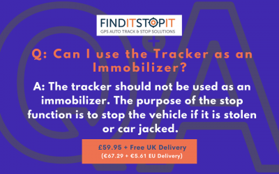 FAQ:  Can I use the Tracker as an Immobilizer?