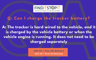 FAQ:  Can I charge the tracker battery?